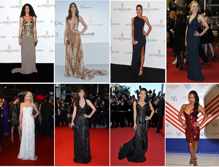 Celebrities in Roberto Cavalli - Festival de Cannes 2012