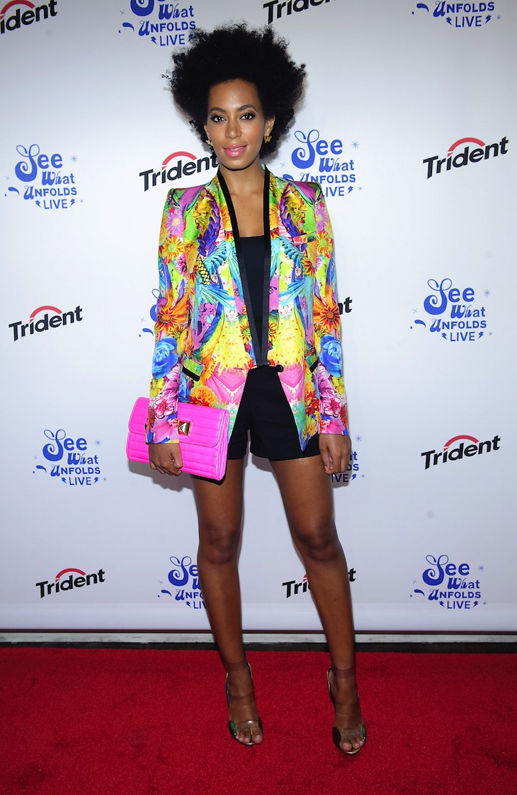 Solange Knowles in Roberto Cavalli at the event See What Unfolds