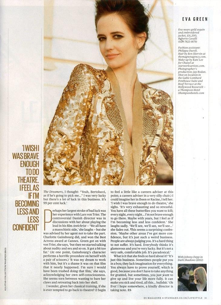 Eva Green in Roberto Cavalli on ES Magazine