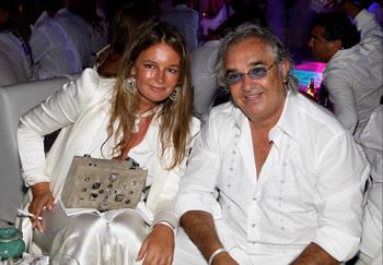 Eva Cavalli with Flavio Briatore