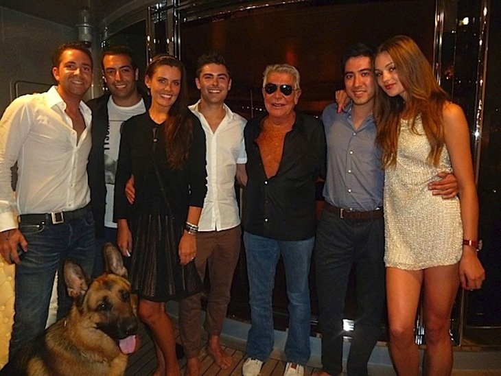 Roberto Cavalli, Zac Efron and friends