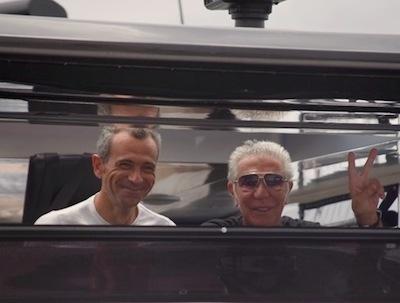 Roberto Cavalli with Gianni