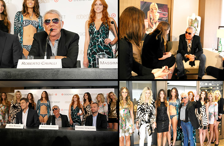 Roberto Cavalli for Target - Press Conference