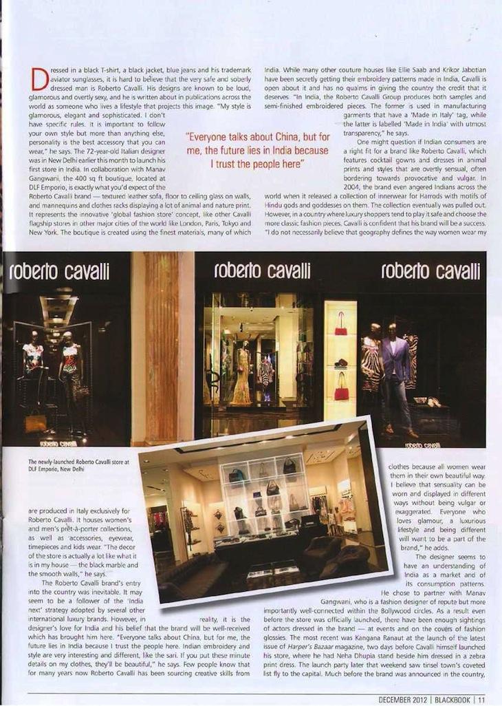 Roberto Cavalli Special Features - BlackBook India