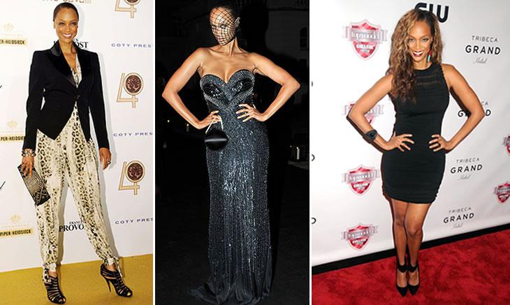 Tyra Banks wearing Roberto Cavalli