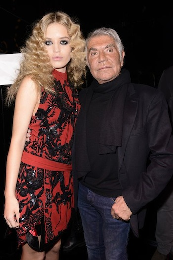 Georgia May Jagger in Just Cavalli with Roberto Cavalli