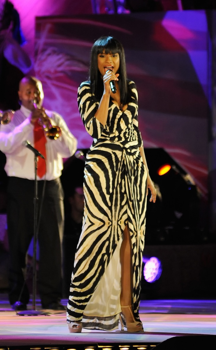 Jennifer Hudson in Roberto Cavalli performs at Boston Pops Fourth Of July Firework Spectacular rehearsal - 2012