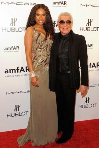 Roberto Cavalli with Jennifer Hudson - amfAR 2012