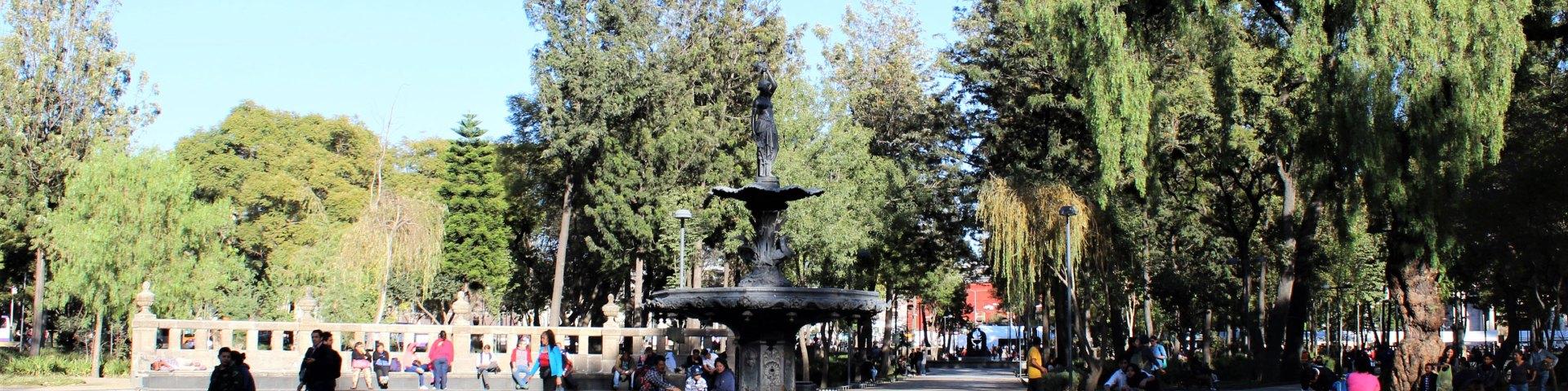 Fuente de las Américas, ubicada al centro de la Alameda Central de la Ciudad de México
