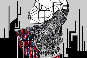 Mistica evolución, 2018, técnica mixta (arte digital / intervención en acrílico), Juan Primera.