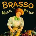Single Coaster - Brasso Metal Polish,Robert Opie Collection
