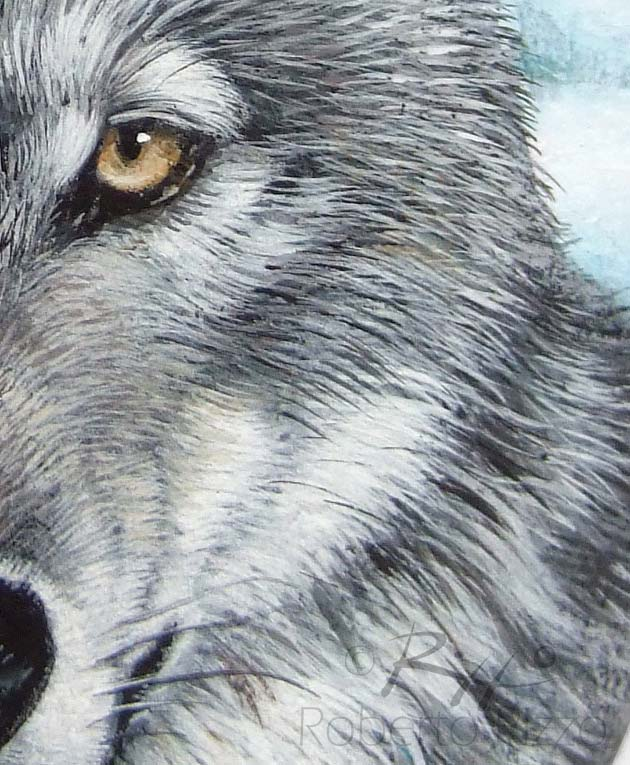 Wild Wolf Painted On A Sea Rock A Stunning Piece Of For