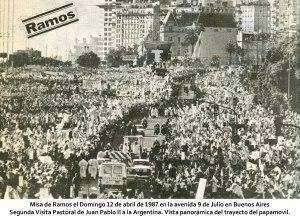 Juan Pablo II en argentina Misa de Ramos panoramica