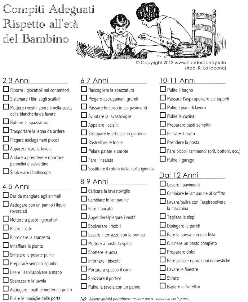 Compiti per bambini italiano