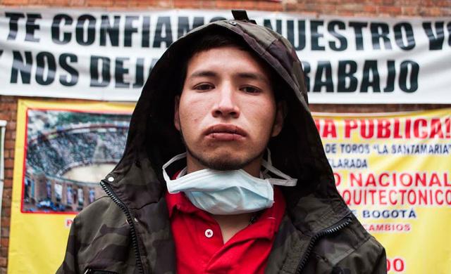 Torero colombiano protesta