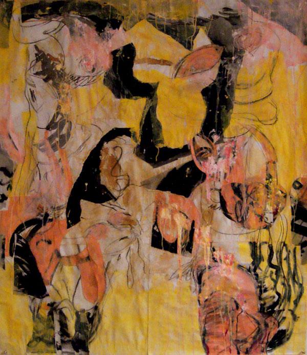 collage, robert, pennekamp, love like crazy, papier, gemengde technieken, love, like, crazy, eerder, tekeningen, abstract, figuratief, robert pennekamp,