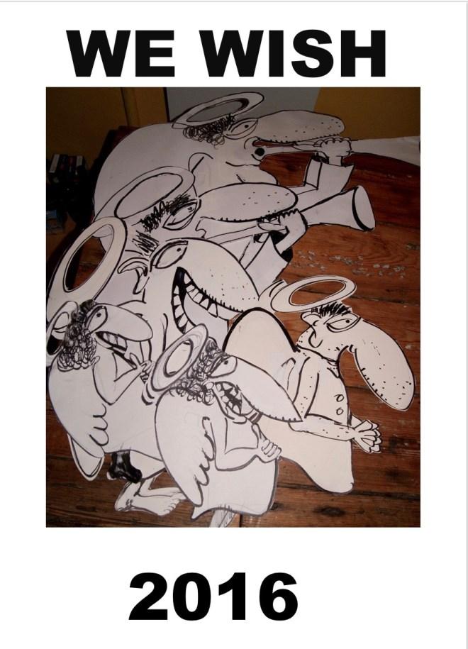 gelukkig nieuwjaar, we wish, robert, pennekamp, 2016, angel, engel, street art, strip, cartoon
