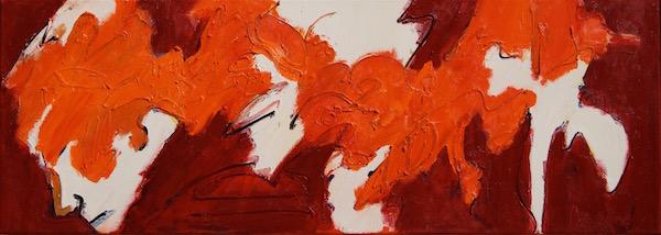 Sunny Side, conferentie formaat, conferentie, vergaderen, tafel , langwerpig, Robert, Pennekamp, Robert Pennekamp, olieverf, linnen, painting, oil, schilderij, 487, oranje, rood, geel, roze, gemengde technieken