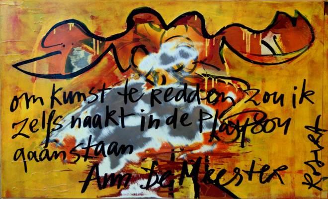 Ann DeMeester, bekende nederlander, harde uitspraak, ingelijste, koelkast, deur