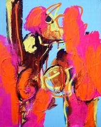 Ook Goedemorgen , 546, schilderij, painting, neon, expressief, Robert Pennekamp, gemengde technieken, 2017