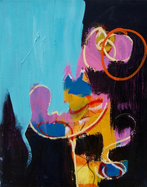 Still going strong, 641, robert pennekamp, olieverf, art, painting, kleurig, kleurrijk, cobra, gezicht, geel, 3 luik, zonnig, leven, krachtig, vrolijk, contemporary art, doek,