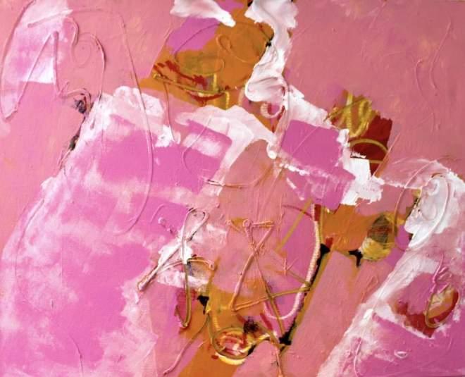 gelukkig wel, painting, schilderij, roze, rood, wit, geel, oranje, kleurig, dynamisch, kleurrijk, energie, amsterdam, kunstschilderij, afbeelding, abstract, mooi, verfrissend, vrolijk, robert, pennekamp