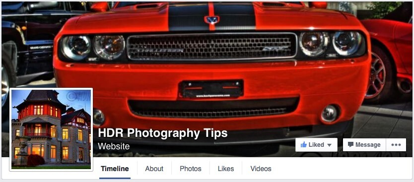 Facebook HDR Photography Tips Page