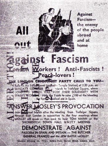 Anti-fascist poster