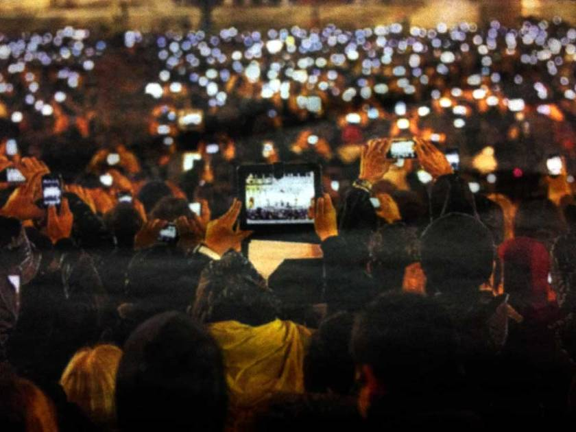 Smart Phones in St Peter's Square