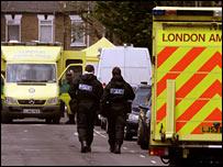Police at Landsdown Road