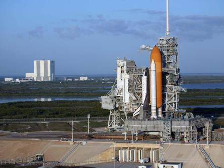 Atlantis on the pad, ready for STS-125