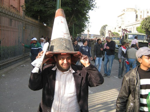 2nd February 2011, in Bab El Luk, Cairo. Photo by gcawflickr on Flickr.