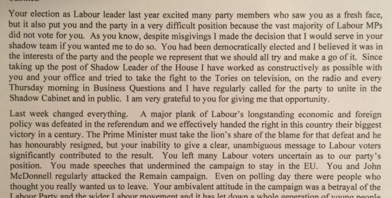 The Typography of Labour Resignation Letters