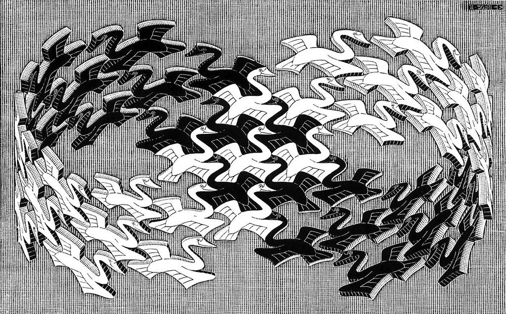 'Oiseaux de Moebius' by M C Escher, 1956