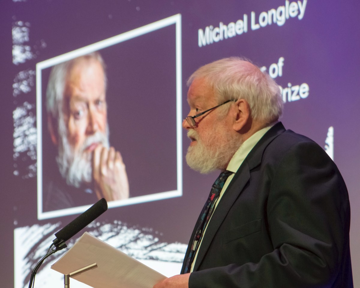 Michael Longley on Poetry and Propaganda