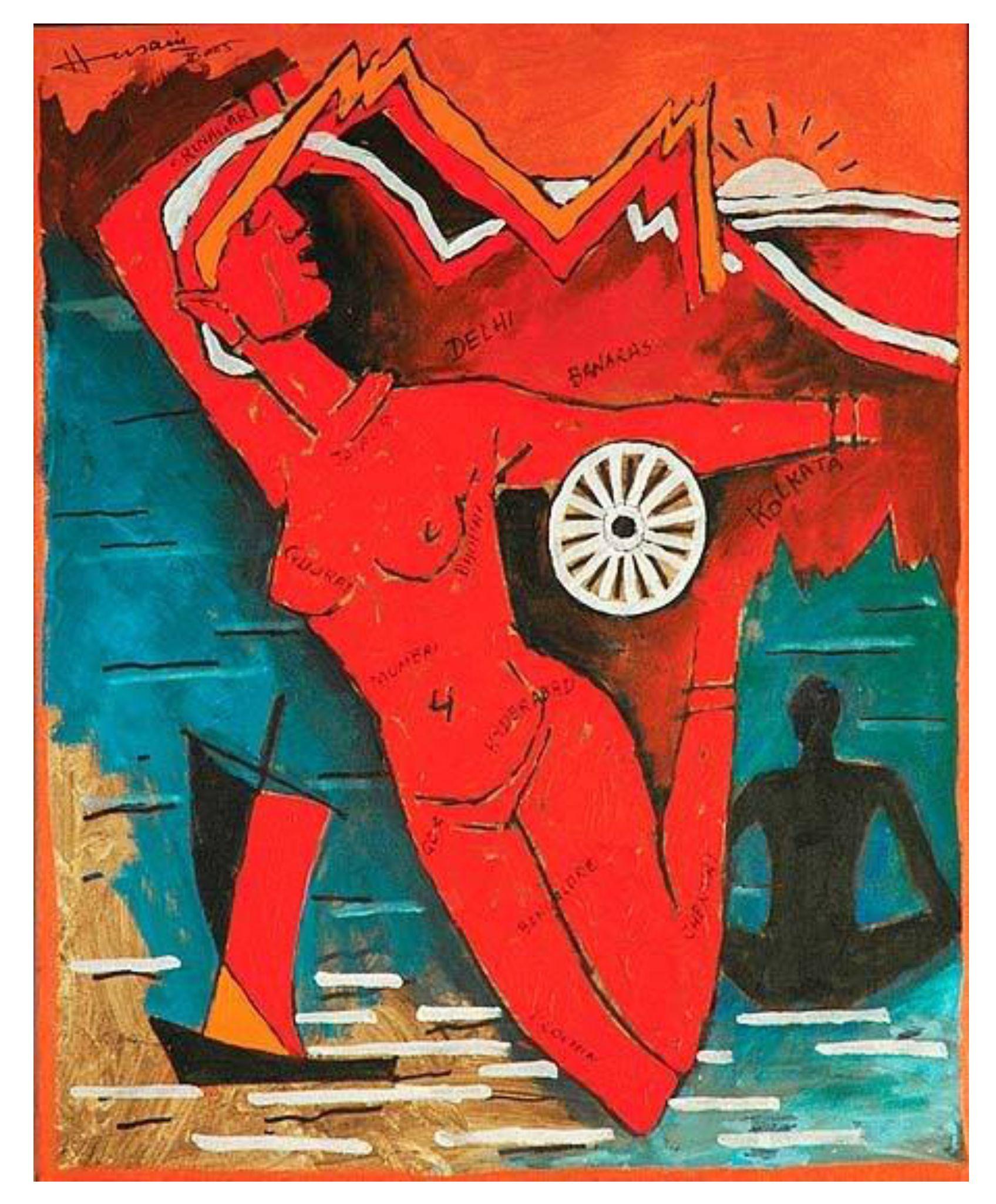 'Bharat Mata' by M.F. Hussein