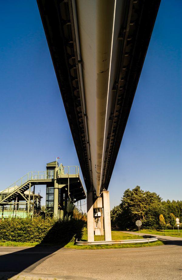 Transrapid, Lathen, onder het spoor