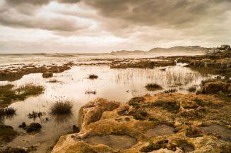 Strand Xabia/Javea na de stormen