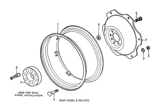Ford 2N, 8N, 9N Rear Wheel & Related Parts List