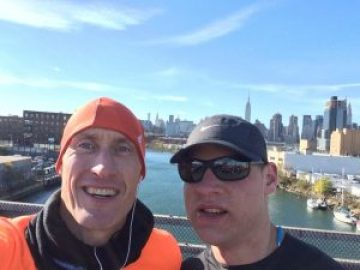 Jorgen en Robert on Queens Bridge NYCM