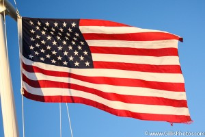 America - US Flag flying