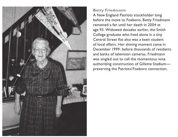 "Betty Friedman, image from the book, ""Legendary Locals of Foxborough"" by Jeffrey Peterson"
