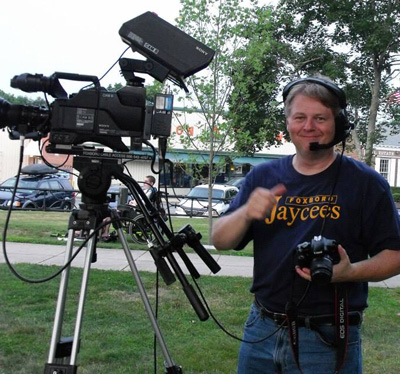 Summer 2013 filming a Jaycee Concert on The Common and loving life