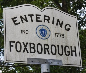 Entering Foxboro Sign