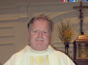 Rev. Stephen J. Madden, pastor of St. Mary's Church in Foxboro.   (Photo by Christine Igo Freeman, Foxboro Reporter)