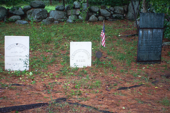 Part of the Willey family cemetery in New Hampshire [photo by Robert Gillis]