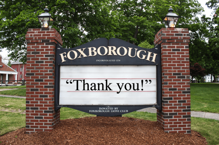 "My final column for the Foxboro Reporter: ""Goodbye, Farewell And Amen:  The Writer Steps Off The Stage"""