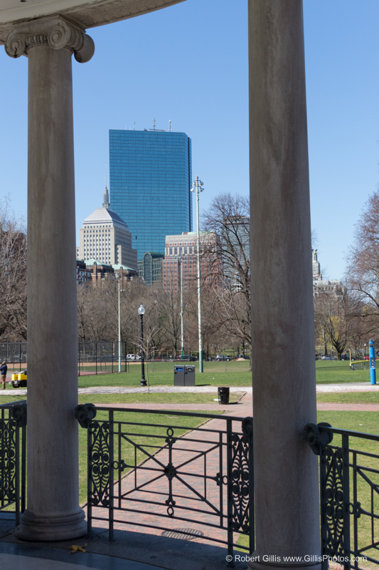 Hancock from the Parkman Bandstand