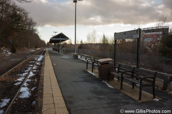Foxboro Commuter Rail Station, January 2014. Photo by Robert Gillis
