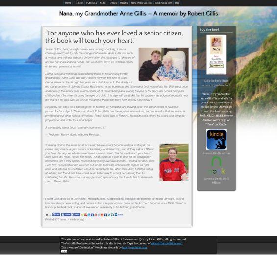 Nana Anne Gillis Web Site